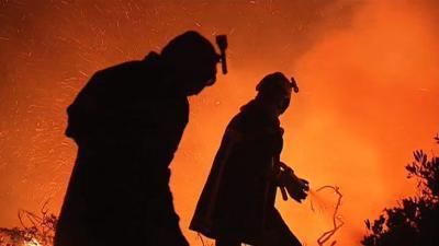 haute corse, incendie, flammes, ravager, 70 hectares, Maîtrisé, vent, feu, végétation, largage d'eau, insolite,