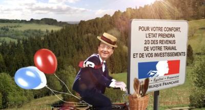 vidéo, buzz, François Hollande, je taxe, Président de la République, insolite, impôts, Suisse, élections,