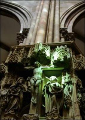 mystérieux, rayon vert, cathédrale de Strasbourg, phénomène, intrigue, équinoxe, sept jours, rayon de soleil, vitrail, Christ, pied gauche, Judas, phénomène, religion, Maurice Rosart, mystère, paranormal,