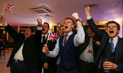 887778 joie des partisans du brexit leave