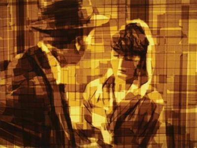artiste, Mark Khaisman, insolite, art, rouleaux de scotch, tableau, peinture, coller, bandes adhésives, reproductions, photos rétros, lumière,