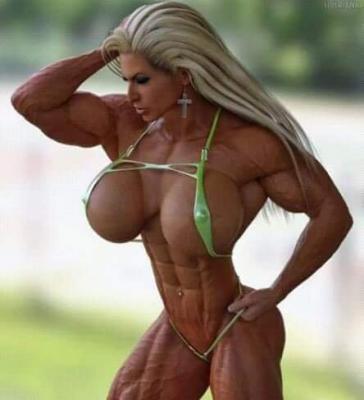 Femme muscle monde