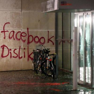 Le siege allemand de facebook a ete attaque