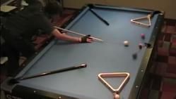 Steve Markle, impressionnant, billard, insolite, compilation, lois de la physique, coups de queue, pool trick shots,