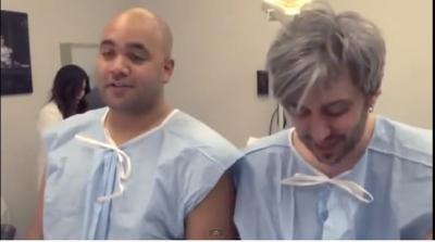 deux hommes, testent, contractions de l'accouchement, femmes, chochottes, insolite, douleur inimaginable,